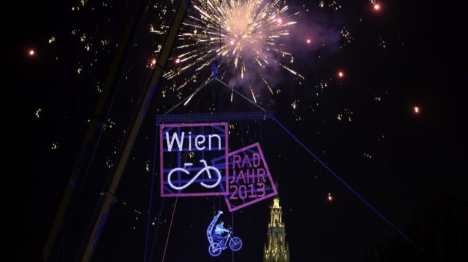 Feuerwerk, Jahr 2013, RadJahr, Vertibiker, Jahreswechsel