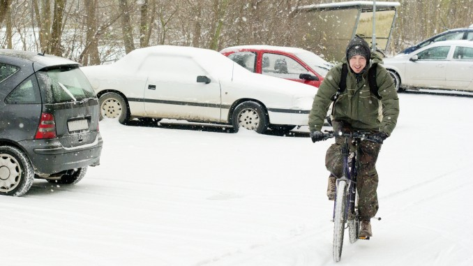 Schnee, winter, Fahrrad Wien,