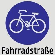 Verkehrsschild Fahrradstraße