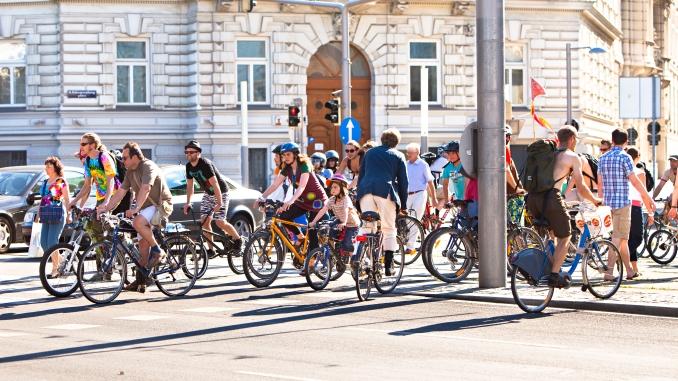 Radfahrende in Wien
