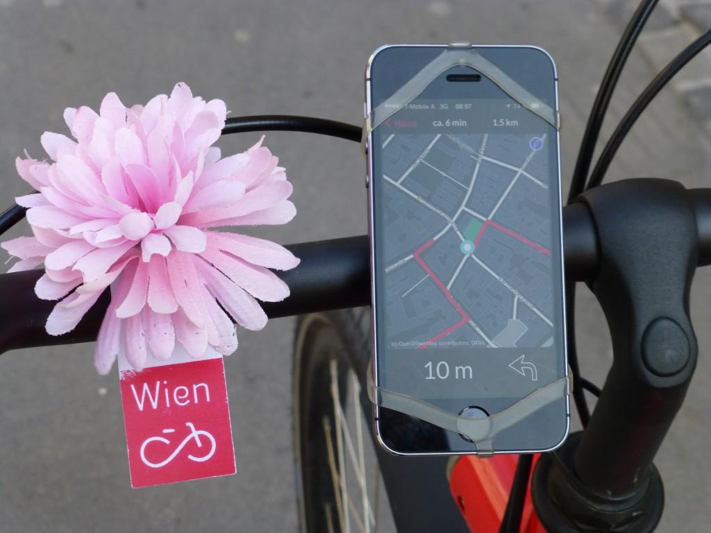 Fahrrad-App für Wien