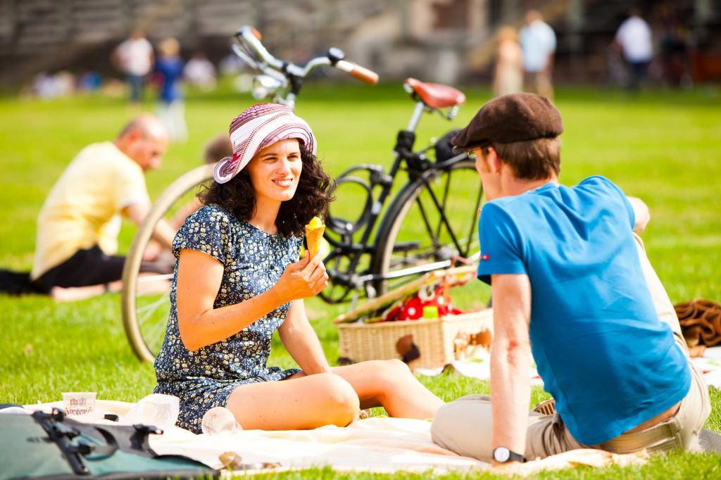 Fahrrad-Picknick. Foto von Peter Provaznik