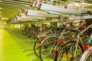 Parkbereich Radstation Wien Hauptbahnhof