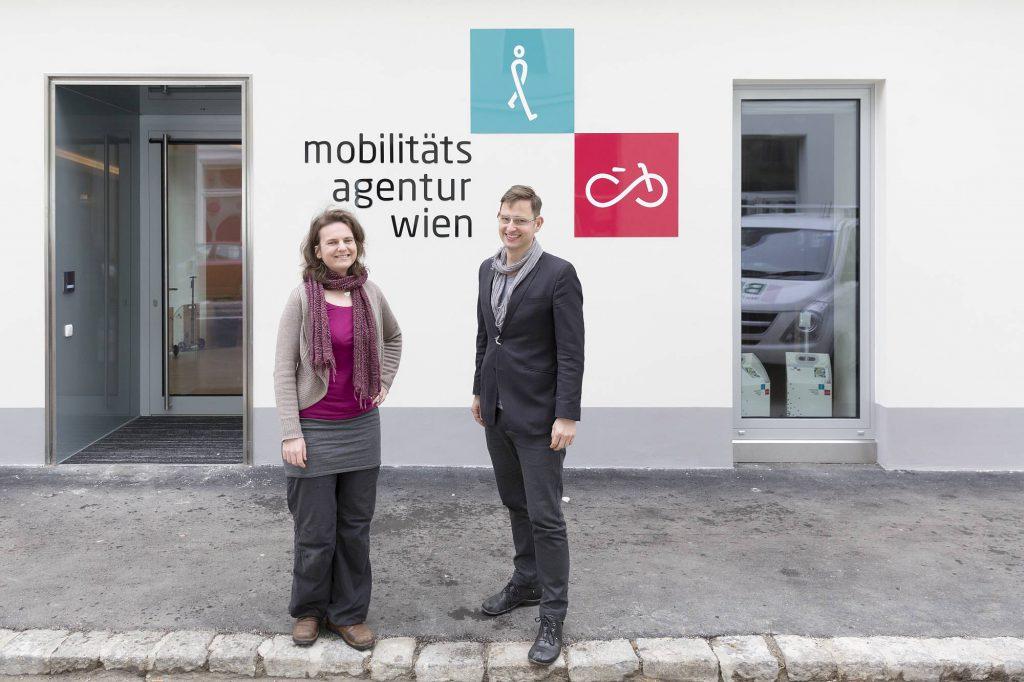 Treffen Sie Petra Jens, Beauftragte für Fußverkehr und Martin Blum, Radverkehrsbeauftragten in der Mobilitätsagentur Wien.