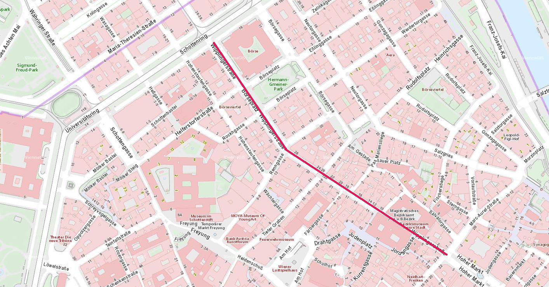 Wipplinger Straße Plan