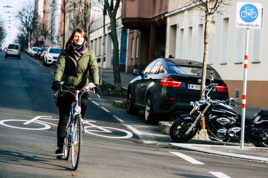 Fahrradstraße Goldschlagstraße