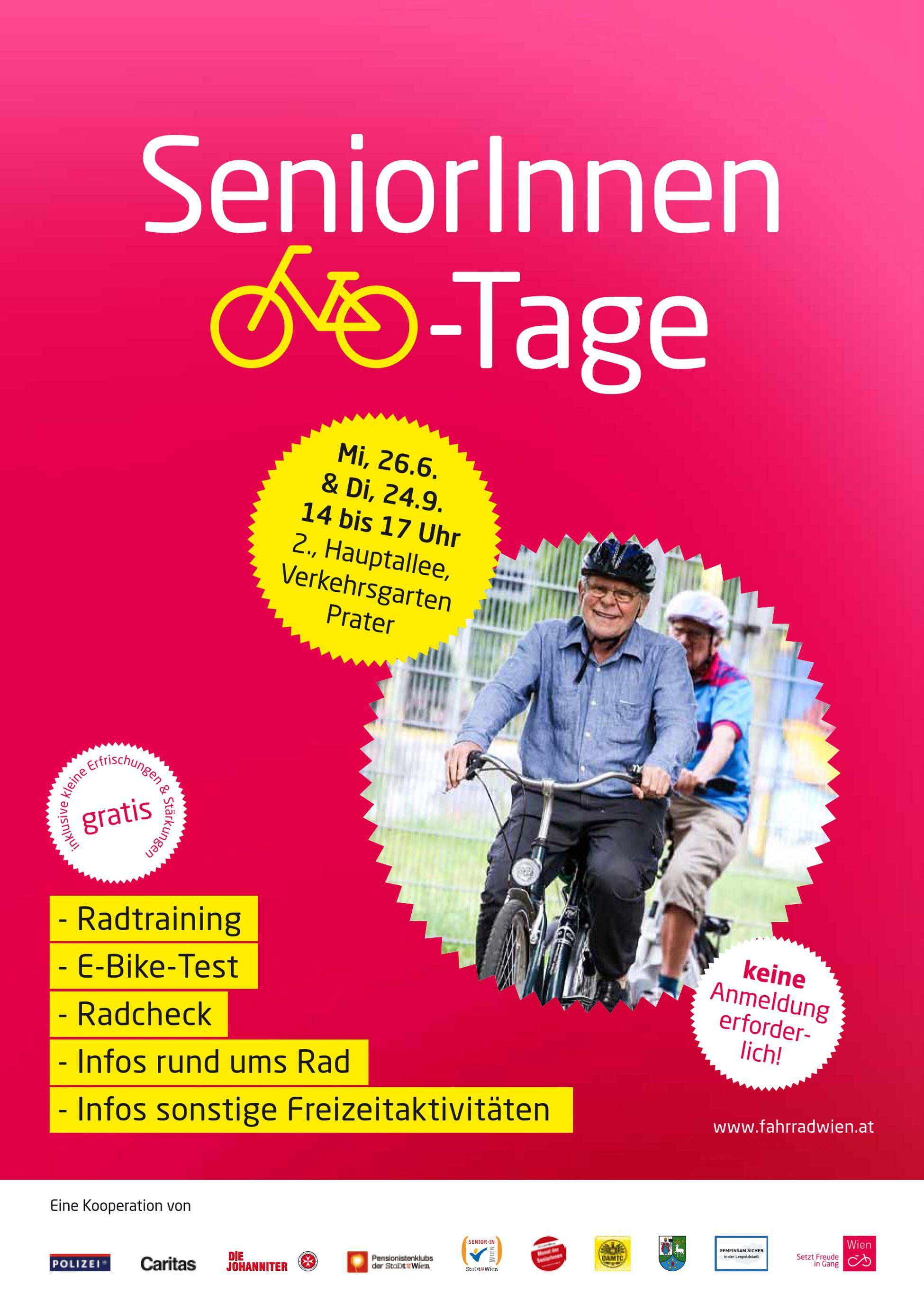 Poster zum SeniorInnen Radtag