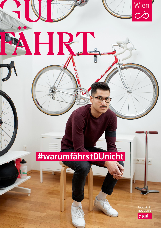Architekt, Fotograf und Fahrrad-Fanatiker Gui, hier abgebildet mit einem seiner Fahrräder. Foto: Ian Ehm