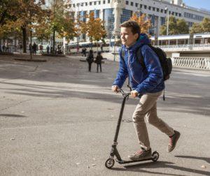 Micro-Scooter. Foto: Mobilitätsagentur Wien/Stephan Doleschal