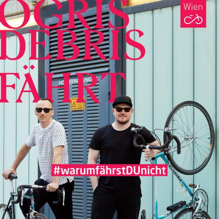 Die Band Ogris Debris auf Fahrrädern. #warumfährstDUnicht