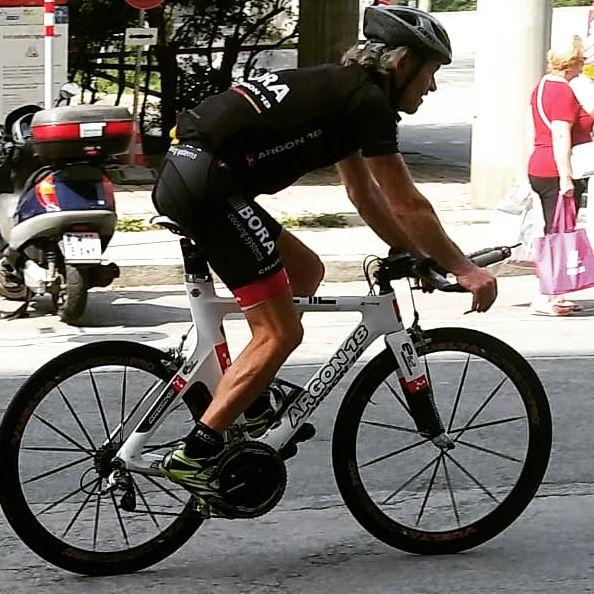 Ein Mann, ein Fahrrad, ein Rekordversuch. 24hbikechallenge. Foto: Günter Heidinger (zur Verfügung gestellt)