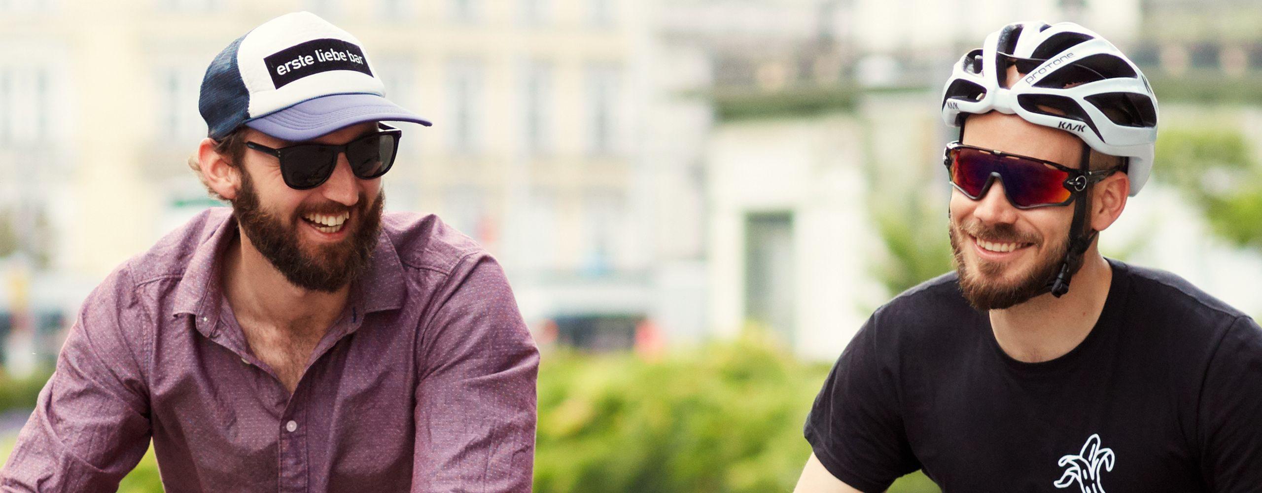 Philipp und Matthias haben beide erst recht spät bemerkt, wie viel Spaß Radfahren macht. Jetzt können sie sich ihr Leben ohne Radfahren gar nicht mehr vorstellen. Foto: Ian Ehm