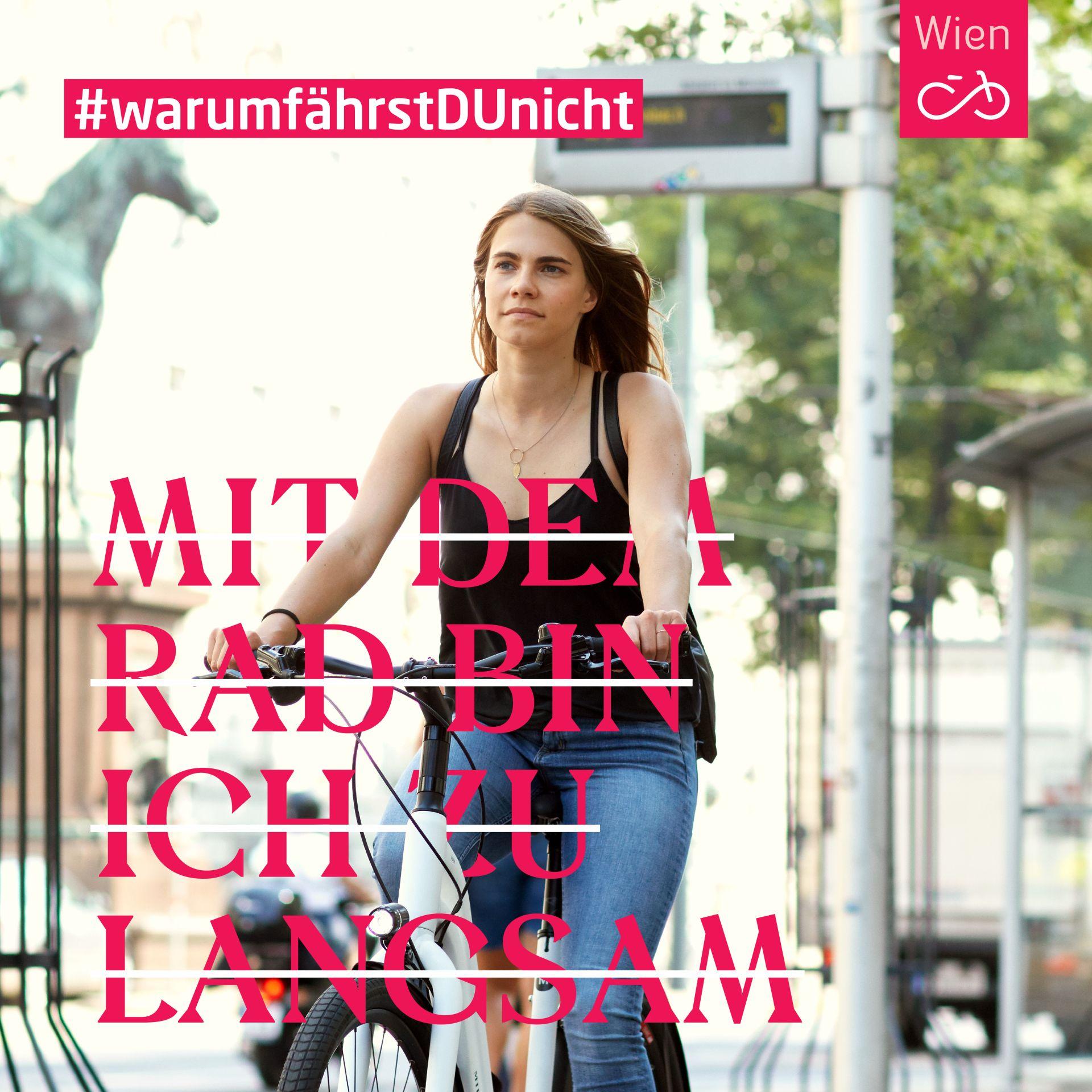 Kirstin hat in Wien ihre Liebe zum Radfahren entdeckt - und, dass man mit dem Fahrrad in der Stadt meistens am schnellsten ans Ziel kommt.