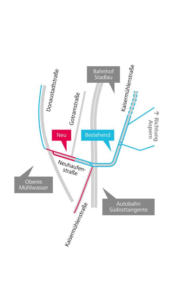 Infrastrukturgrafik zur Neuhaufenstraße