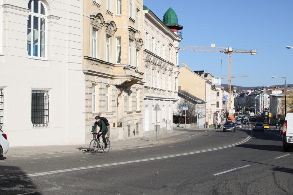 Radfahrer, Radweg, Gersthof