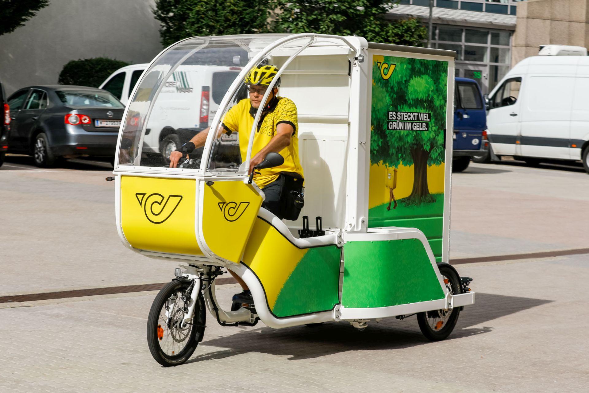 Die Post testet im 3. Bezirk die Zustellung von Paketen mit speziellen Transportfahrrädern. Nachhaltige Logistikmodelle tragen zum Klimaschutz bei.