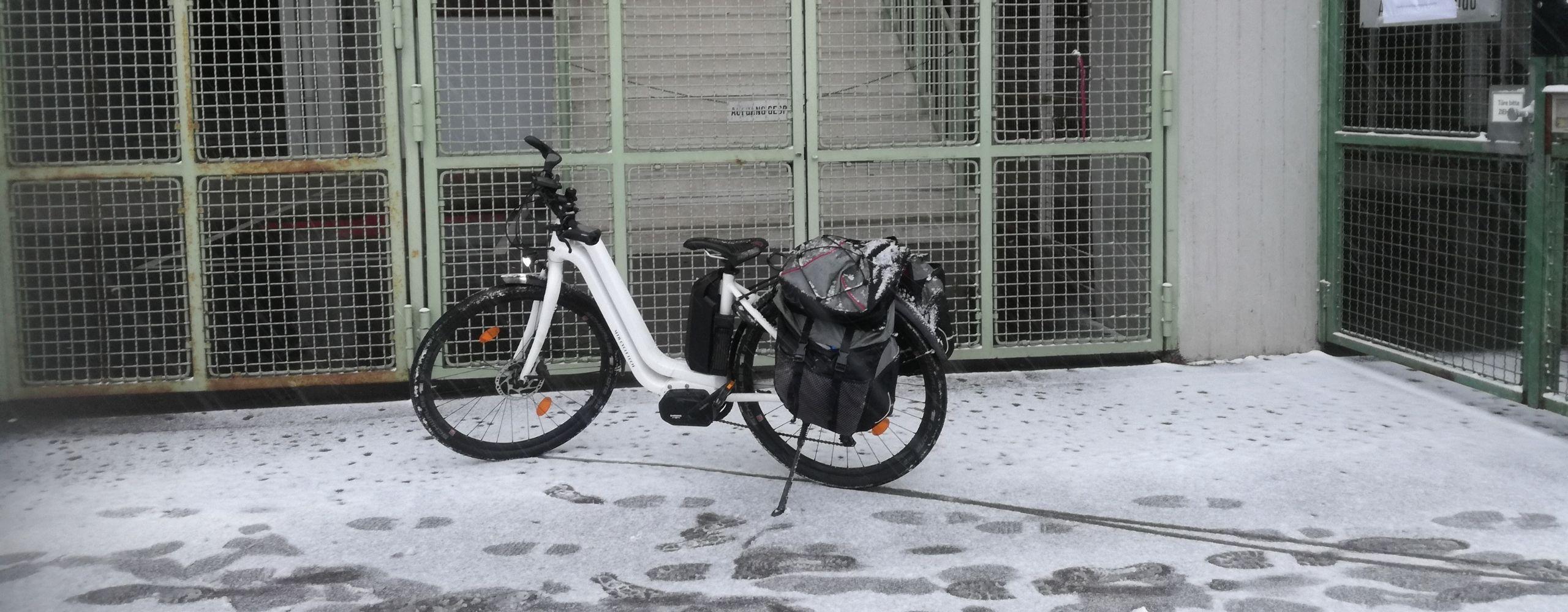 Angelika eBike im Schnee