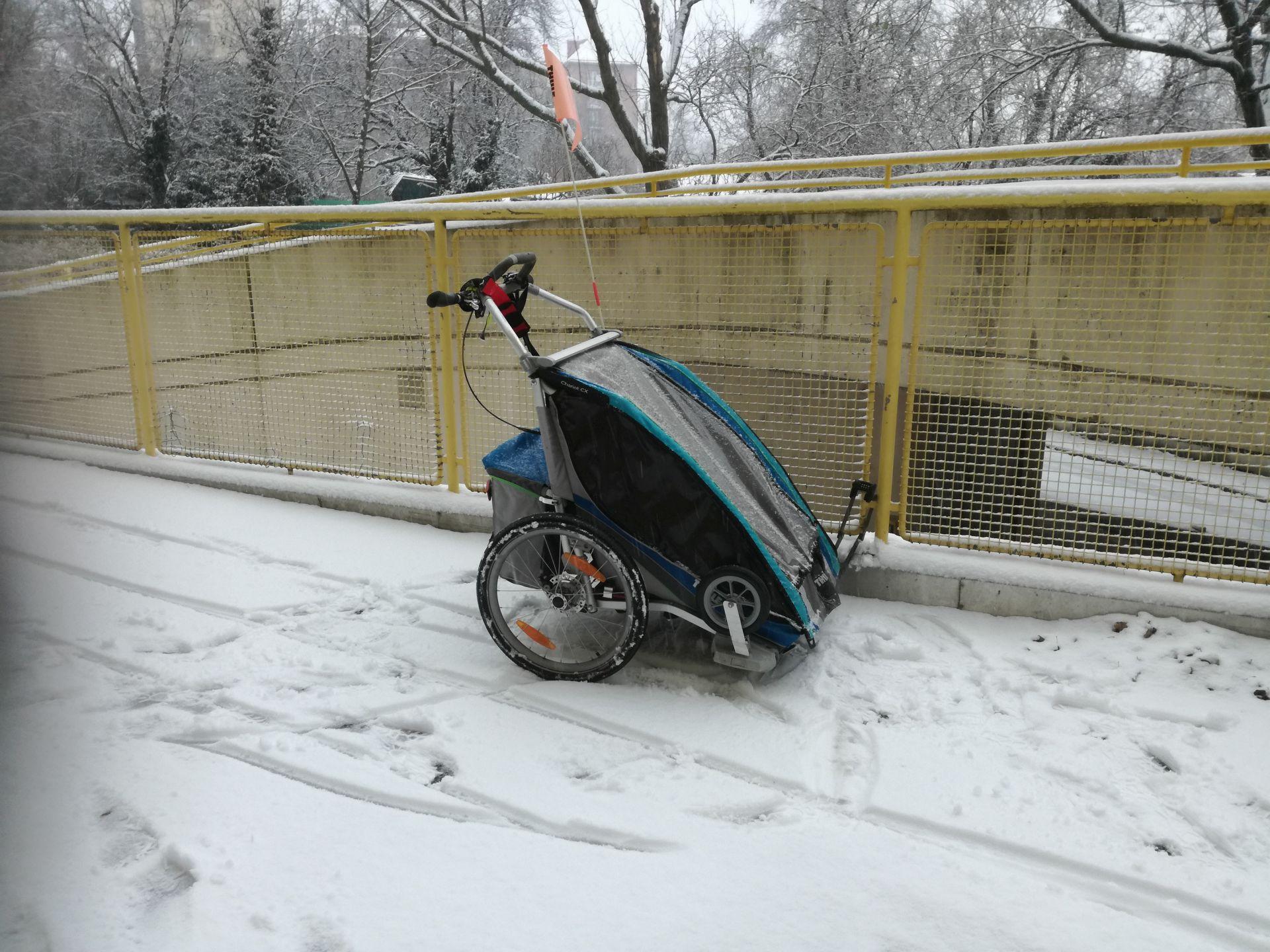 Angelikas Fahrradanhänger
